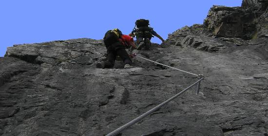 Klettersteig Tabaretta : Klettersteig tabaretta spitze am ortler payer hütte